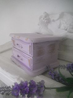 shabby chic jewelry box rustic style distressed box by ShabbyRoad, $18.00