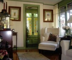 white walls with colored trim | colorful trim