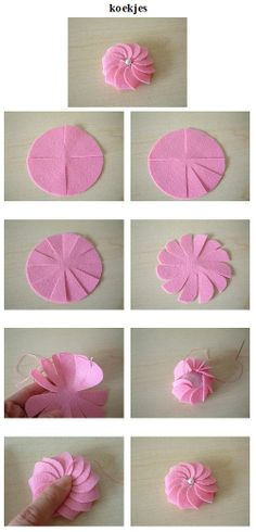 Paper Flower Tutorial Dyi Crafts Flower Making Handicraft Teacher Gifts Paper Flowers Craft Projects Projects To Try Origami Wreath Crafts, Ribbon Crafts, Flower Crafts, Felt Crafts, Cloth Flowers, Diy Flowers, Fabric Flowers, Paper Flowers, Flower Diy