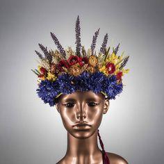 CC Millinery Creations, on Etsy Flower Crown Wedding, Crown Flower, Flower Head Wreaths, Ears Of Corn, Traditional Wedding, Wedding Day, Dress Wedding, Headdress, Artificial Flowers