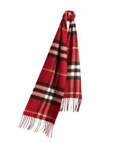 For Children: @burberry Check Cashmere Scarf £185.00
