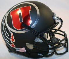 Utah Utes Chrome Schutt XP Mini Helmet