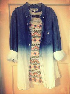 Minidress and oversize denim