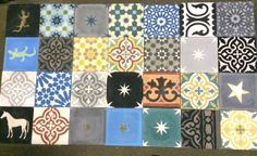 Moroccan glazed tiles