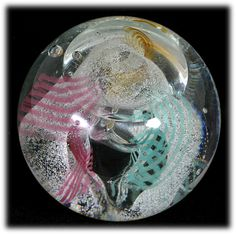 Caithness Art Glass Paperweight Daydreams Scottish Hand Made Pink from catisfaction on Ruby Lane