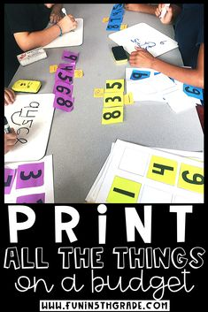 Are you looking to print all the pretty things in color on a budget?? Here are some great tips on printing in color from a fellow teacher who needed all the colorful things! Learn how she prints all her anchor charts, worksheets, flip books, task cards, posters and more in color for cheap! Great ideas for teachers! Tips on how to find the perfect printer, ink, cardstock and more!
