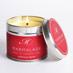 This Marmalade of London Precious Spice Medium Candle in a Tin has a rich & warm fragrance with clove buds & cinnamon sticks freshened by a sweet clementine. http://www.a-choice-of-gifts.co.uk/giftshop/prod_3152413-Marmalade-of-London-Precious-Spice-Medium-Tin-Candle.html