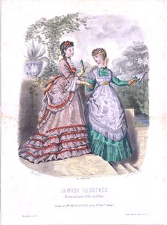 Fashion plate, 1869 France, La Mode Illustree