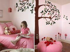 Decoração quarto infantil menina flores fruta - detalhes (Foto: Lmnop)
