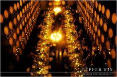 Barrel room wedding reception dinner venue