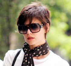 Pxie Hairstyle with scarf and sunglasses