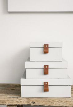 DIY: Gör om skolådorna till fina förvaringslådor med läderdetaljer | Mormorsglamour
