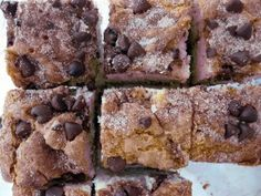 chocolate chip coffee cake - from everyday with rachael ray