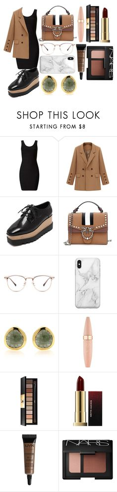 """""""Untitled #2630"""" by ltguuk ❤ liked on Polyvore featuring Miss Selfridge, JY Shoes, Recover, Maybelline, Yves Saint Laurent, Kevyn Aucoin, NYX and NARS Cosmetics"""