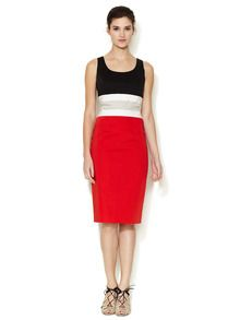 Colorblock Grosgrain Waistband Dress by Carolina Herrera at Gilt