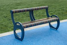 Kaleidoscope Bench | With or Without Back — Vivid Collection | Landscape Structures