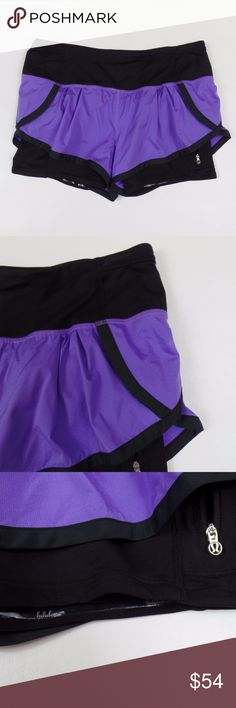 LULULEMON Running Short LULULEMON Short Running Dual Layer Shorts Built in Spandex Women's Size 6 EUC!  Great running shorts! Spandex shorts with looser shorts over the top.   In excellent condition!!!  Please message me with any questions. Check out my other items! lululemon athletica Shorts