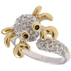 Soho Hearts Ring Crab ($29) found on Polyvore
