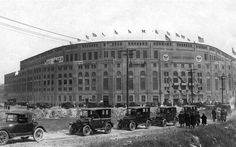 """On April 27, 1947, """"Babe Ruth Day"""" is held at Yankee Stadium to honor the ailing baseball star. Here's the old Yankee Stadium where Ruth played."""