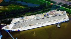 #NCL #Escape Oout of dry dock & out for her test voyage.....soooo exciting!