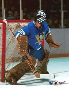 Dunc Wilson, former Pens goalie. Stars Hockey, Ice Hockey Teams, Hockey Goalie, Hockey Games, Pittsburgh Sports, Pittsburgh Penguins Hockey, Penguins Players, Hockey Pictures, Pens Hockey