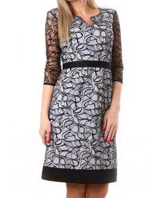 Официална рокля на bote | http://shopzone.bg/womens/рокли/71245/Дамска-рокля-в-бяло-и-черно-на-bote
