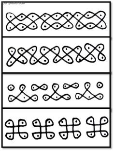 Nice tutorial for simple borders: Sikku Border Kolams