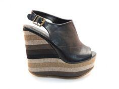 #black #wedge Femini #Shoes www.feminishoes.com
