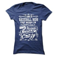 I AM A BASEBALL MOMJust Released and Only Here for a LIMITED TIME ! Not Available In Stores. Quantities are limited and will only be available for a few days. Makes a perfect gift. Buy 2 or more and get discounted shipping. Once The Clock Runs Out, These Shirts Will Be Gone For Good !BASEBALL