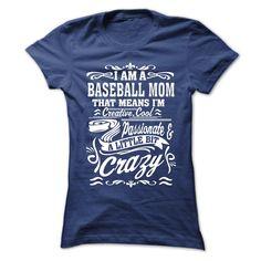 (New Tshirt Coupons) I AM A BASEBALL MOM [Tshirt design] Hoodies, Funny Tee Shirts