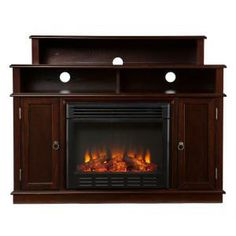 Southern Enterprises, Daniel 48 in. Media Console Electric Fireplace in Espresso, 2948249 at The Home Depot - Mobile