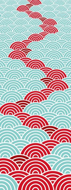 Textile design for Japanese washcloth, Tenugui Geometric Patterns, Graphic Patterns, Textile Patterns, Textile Design, Color Patterns, Print Patterns, Floral Patterns, Design Patterns, Japanese Textiles