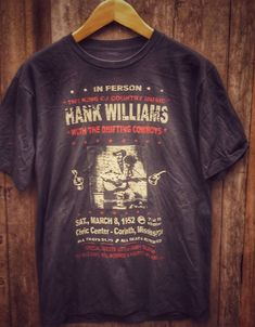 Hank Williams Band T Shirt super soft cotton Chest Measurement Men's Large Motorhead Ace Of Spades, Vintage Band T Shirts, Led Zeppelin, My Etsy Shop, Trending Outfits, My Style, Tees, Mens Tops, Cotton