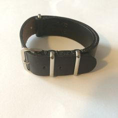 Horween Chromexcel Black Leather N.A.T.O. Style Watch Strap (20 - 22 MM)