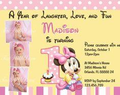 Imprimible Minnie Mouse primera invitación del por TaowithLove