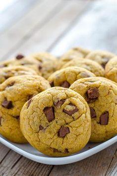 dýňové cookies s čokoládou Muffin, Goodies, Food And Drink, Breakfast, Brownies, Fit, Sweet Like Candy, Morning Coffee, Cake Brownies