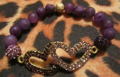 Double Hearts with Rhinestones Purple Druzy Agate by musicissanity, $9.99