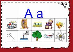 Activitats per educació especial, infantil i primària: Material Lectoescriptura P5 i cicle inicial Speech Therapy Activities, Montessori Activities, Classroom Activities, Learn Russian, Preschool, Language, Lettering, Teaching, College