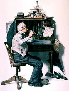 """""""Flute"""" ( Spring Song) by Norman Rockwell, 1925 ・ Style: Regionalism ・ Genre: genre painting"""