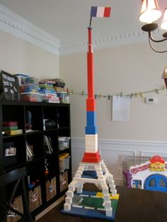 Lego Eiffel Tower, taking a walk at half past nine and many more activities for learning with Madeline. Tour Eiffel, Basic French Words, Ludwig Bemelmans, Five In A Row, Lego Club, My Father's World, Flag Stand, Book Activities, Children Activities