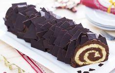 Bûche au chocolat avec Thermomix, recette une délicieuse et jolie bûche de Noël roulée au chocolat noir, facile à préparer et qui enchantera votre famille