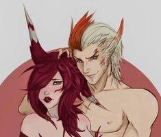 Lol League Of Legends, Anime Couples, My Hero, Fan Art, Devil, Aesthetics, Magic, Wallpaper, Drawings