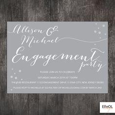 Engagement Party invitation  Wedding announcment  by ElleOL