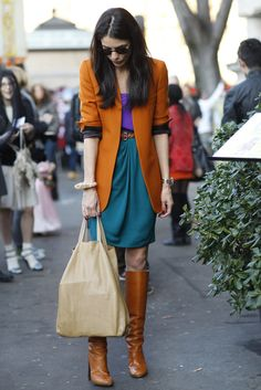 Loving this look and many more on this page!!  Milan Fashion Week Fall 2012 Street Style Photo 1