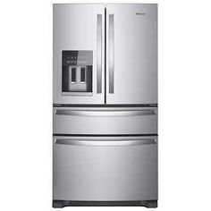 Whirlpool 25CuFt 36-inch Wide French Door Refrigerator with Fingerprint Resistant Stainless Steel