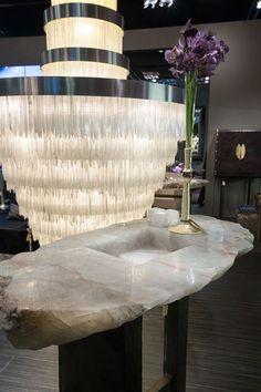 Maison & Objet Paris on Behance - #Cravt #Original #Interior #Design #Masion #Et #Object #Paris #Booth #Fair #September #2014 #Selenite #Lamp #Crystal #Rock #Vase #Flowers
