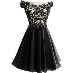 VP Women s Lace Short Prom Gown Homecoming Party Dress with Straps ($80) ❤ liked…