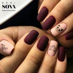 Prettiest Geometric Panda Nail Art Designs to Look Unique and Trendy - long nails Cute Nail Colors, Nail Polish Colors, Diy Nails, Cute Nails, Gel Manicure, Gel Nail, Pedicure, Manicure Ideas, Nail Tips