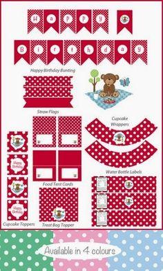 Teddy Bear Picnic Free Printable Party Kit.