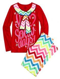 Holiday Dog Fleece Pajama Set | Girls Pajamas Pjs, Bras & Panties ...